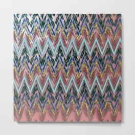 Zigzag line pattern Metal Print