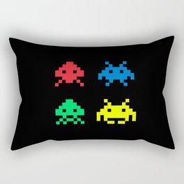 space aliens invaders stylish gamer art Rectangular Pillow