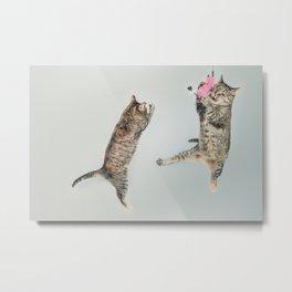 Les chats qui jouent! Metal Print