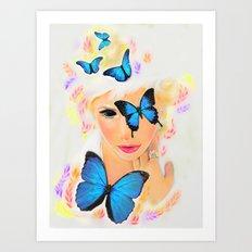 Fluttery 1 Art Print
