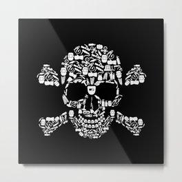 Skull Welder Equipment Metal Print