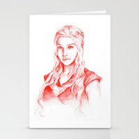 mother of dragons Stationery Cards featuring Mother of dragons by Cassie's Wonderland