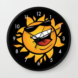 Smilin' Summer Sun Wall Clock