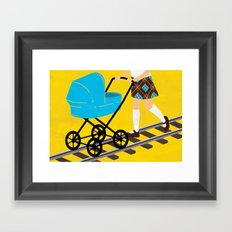 The Babysitting Track Framed Art Print