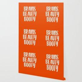 Brains Beauty Booty - Orange Wallpaper