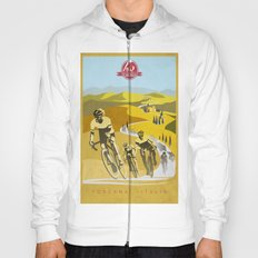 Strade Bianche retro cycling classic art Hoody