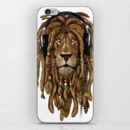 Lion Dreadlocks Rastafari T-Shirt & accessories iPhone Skin