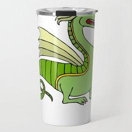 Green Chinese Dragon Travel Mug