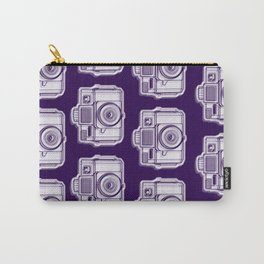 I Still Shoot Film Holga Logo - Reversed Deep Purple Carry-All Pouch