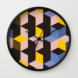 Cube city Wall Clock