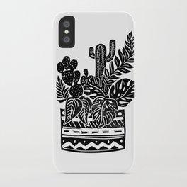 Botanical Pot Block Print iPhone Case