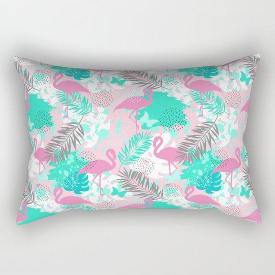 Flamingo. Abstract pattern Rectangular Pillow