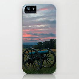 Gettysburg Cannon Sunset iPhone Case