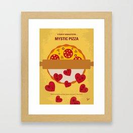 No846 My Mystic Pizza minimal movie poster Framed Art Print