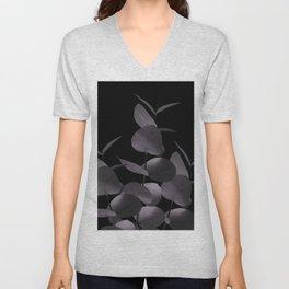 Eucalyptus Leaves Black Black #1 #foliage #decor #art #society6 Unisex V-Neck