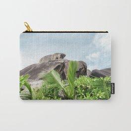 tropical landscape view la digue seychelles Carry-All Pouch