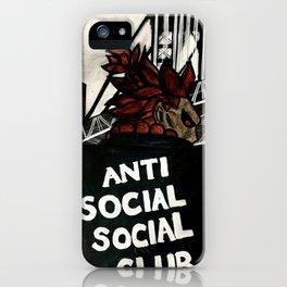 Akuma Anti Social Social Club iPhone Case