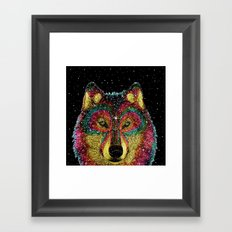 Cosmic Wild Animals Framed Art Print