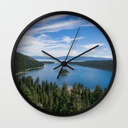 Emerald Bay, Lake Tahoe Wall Clock