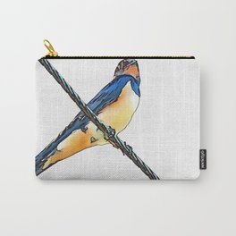 Swallow Bird On A Wire Carry-All Pouch