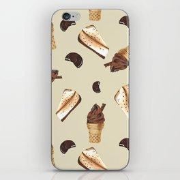 Seamless pattern: ice cream, cheesecake, cookie iPhone Skin