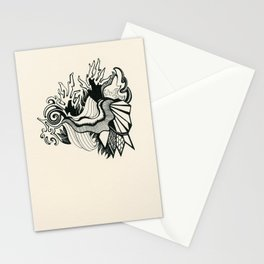 Psychedelic Coral Stationery Cards