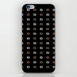 Ampersand Pattern iPhone Skin