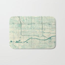 Phoenix Map Blue Vintage Bath Mat