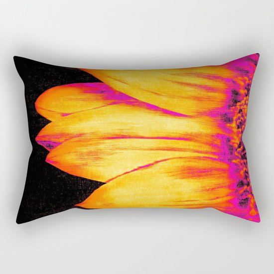 Sunflower Pink Yellow Rectangular Pillow