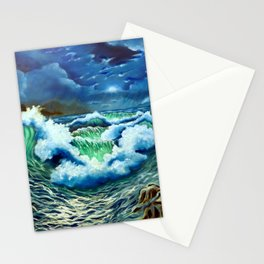 Moonlit Sea Stationery Cards