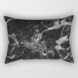 Black and Gray Marble Pattern Rectangular Pillow