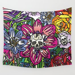 """""""Skull Garden III"""" by Schmiedlin 2013 Wall Tapestry"""