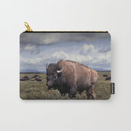 American Buffalo or Bison in the Grand Teton National Park Carry-All Pouch