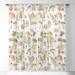 Mushroom Dreams Sheer Curtain
