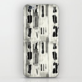 Minimal Black and Cream Abstract Design iPhone Skin