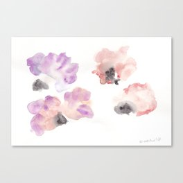 180807 Abstract Watercolour 14| Colorful Abstract |Modern Watercolor Art Canvas Print