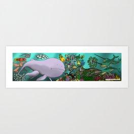 Ocean Splentafica (Cropped) Art Print