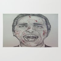 american psycho Area & Throw Rugs featuring American Psycho by A.H.