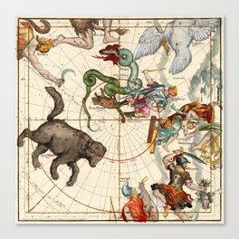 Ursa Major, Ursa Minor, Perseus, Hercules, Cassiopea, Andromeda And Other Constellations Canvas Print
