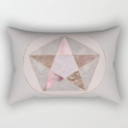 Glamorous Rose Gold Pentagon Symbol Rectangular Pillow