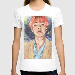 Taehyung with pink hair T-shirt