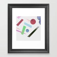 Geometry 4 Framed Art Print