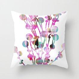 Sprig neon Throw Pillow