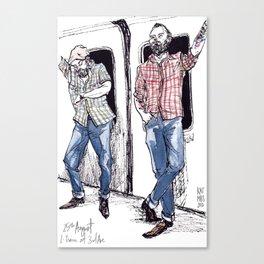 Urban Lumberjacks by Kat Mills Canvas Print
