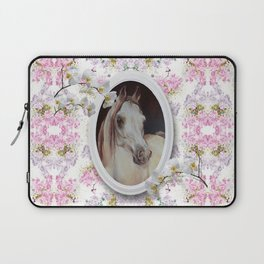 White orchids & Arabian mare Laptop Sleeve