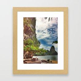 Bright Cliffs of Railay Framed Art Print
