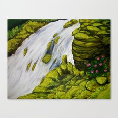 Mossy Waterfall Canvas Print