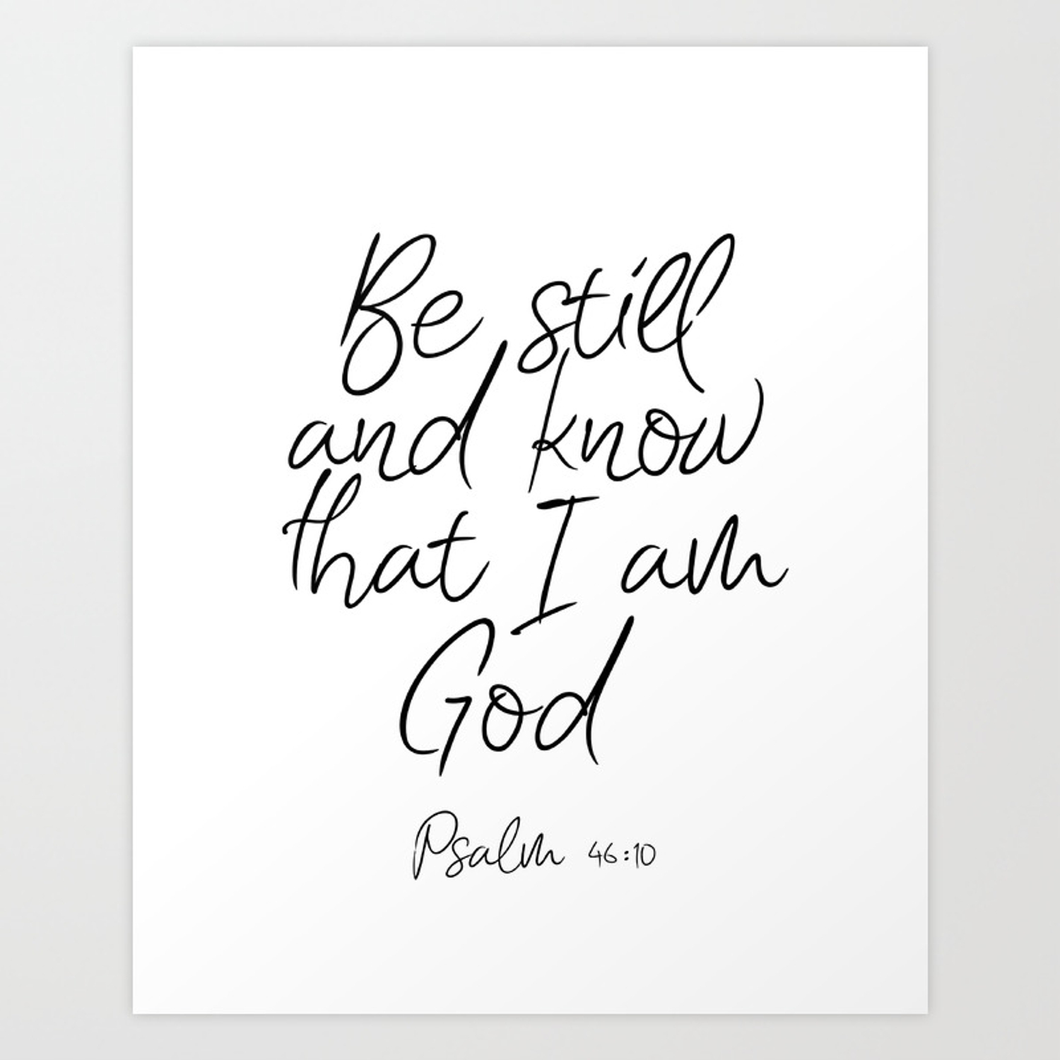 Be Still And Know That I Am God Wall Decor from ctl.s6img.com