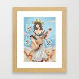Venezuelan girl anime Framed Art Print