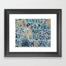 sf graffiti Framed Art Print
